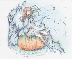 Witch and pumpkin by neokale