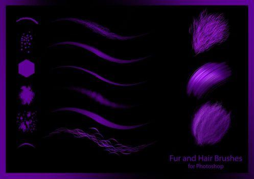 Hair and Fur Photoshop Brushes by ryodita