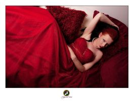 Red Dress Sofa I by ChrissieRed