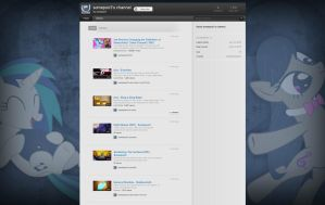 Somepon3's Youtube Page Layout by JayFordGraphics