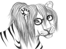 WIP Cute Tiger Comiss by HotrodsImpulse