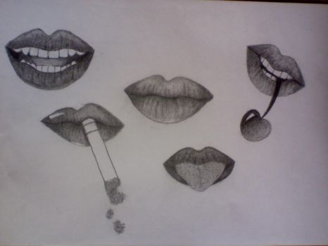 Lips by FeatherThatIs