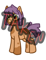 Orange Earth Pony Filly 15 point adopt TAKEN by The-Clockwork-Crow