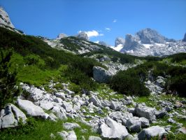 Austrian Alps Mountains by MattEdson