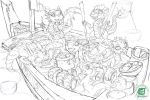 Dragon Whelps - Sushi Edition - Linework by The-SixthLeafClover