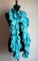 Double Ruffle Cobweb Scarf by HandiCraftKate