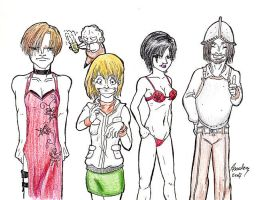 RE4 - Deleted... Costumes? by analoren