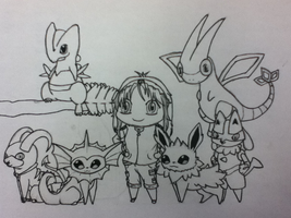 chibi pokemon team WIP by Kimi133