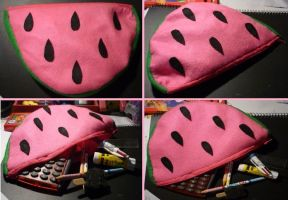 Watermelon pencil case by Tash15