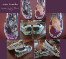 Sleeping Beauty .Shoe Commish. by Kaumi
