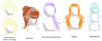 Hair Pack 4 (Download in Descript.) by Kitsuna020