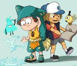 Wakfu Yugo and Gravity Falls Dipper change by GAWD1542