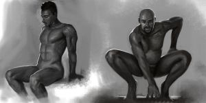 Male figures by weihao