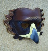 Golden Eagle Leather Mask by merimask