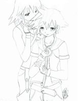 Riku and sora -Kingdom hearts- by Sephy-sama