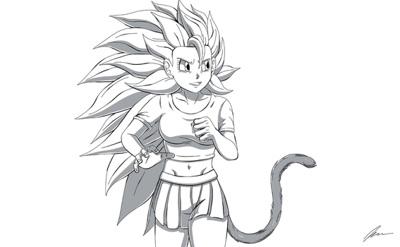 Super Saiyan 3 Angel Rose by Wulfborn