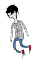 floating marshall lee by sodaapop101
