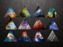 Triangular Galaxy Folder Icon Set by ariisxa