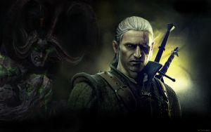 Geralt and  Illidian by DamorkaDalilla