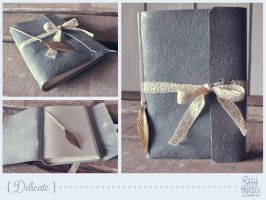 Delicate leather book by sahdesign