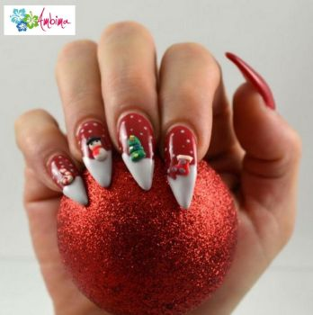 Christmas 3D stiletto nails by Ambima