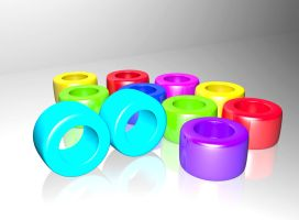 Colorfull cylinders by Kr4mon