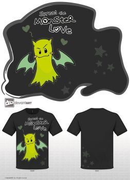 Spread the Monster Love - black version by melon-banzai
