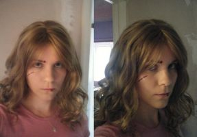 Hermione POA wounded makeup test by Leonie-Heartilly