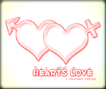 Hearts Love -Photoshop Brush- by Straight-Pride