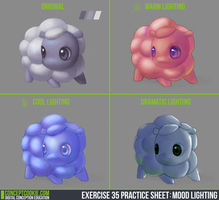 Exercise 35 Practice Sheet  Mood Lighting by theblacklotus92
