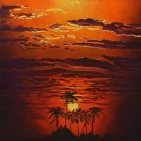 Bright African Sunset by AldemButcher
