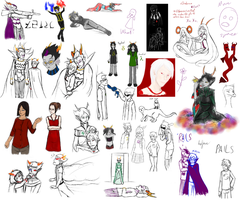 All of the sketches 3 by Elistanel