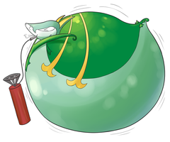(Commission) Inflated Serperior by selphy6