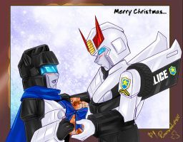 TF - Prowl Jazz Merry X-Mas by plantman-exe