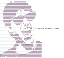 Tom Cruise ascii by NoBullet