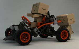 Danbo with Lego buggy by Dracu-Teufel666