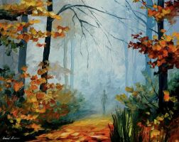 MORNING FOG - L. AFREMOV by Leonidafremov