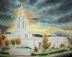 Columbia River Washington LDS Temple by Ridesfire