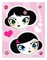 geisha stickers by ladysnowbloodz