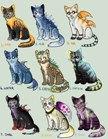 Elemental cat Auction! 5 POINTS START (OPEN) by Arklen