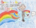 Obama on a Pegasus. by darklugia666