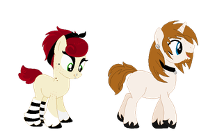 Personal ponysonas by Monster-Drool