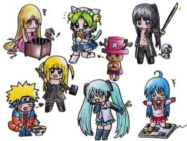 Anime chibis by GaMu-ChAn