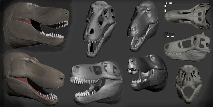 Tyrannosaurus WIP Dev 2 by Surf-By-Shootin