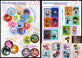 Japan Expo Keychains by Nacrym