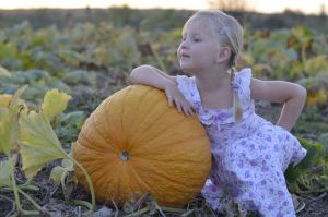 pumpkin and girl by ValeryFrost