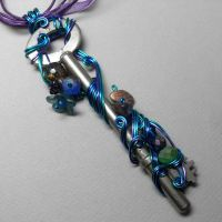 Technicolor Key Necklace by sojourncuriosities