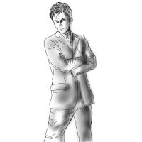 The Doctor sketch 1 by FuriarossaAndMimma