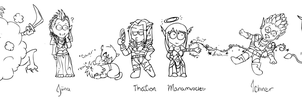 Warcraft Friends : Horde by MinorTechnicality
