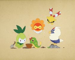 Paper Pokemon by morganobrienart